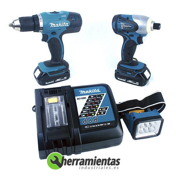 082DK18016 – Kit DK18016 Makita BDF453Z + BTD140Z + Linterna + Maletín plástico