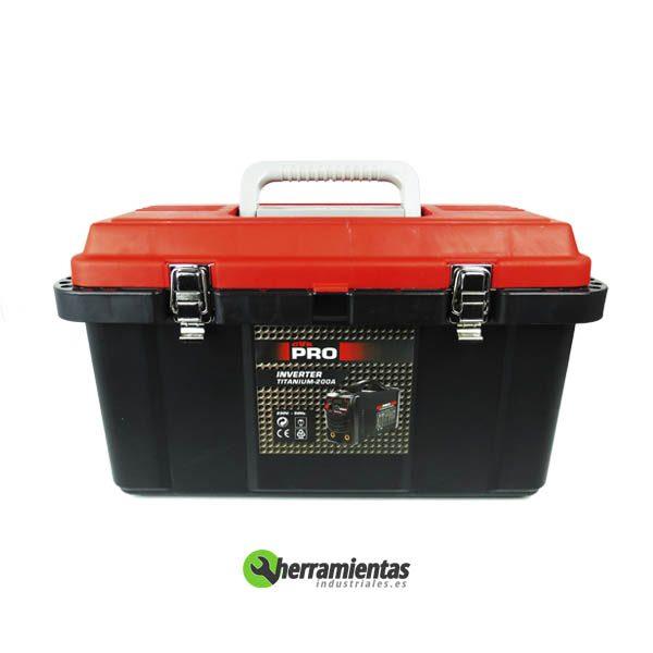 Soldadora inverter 200A Pro Titanium-caja plastico