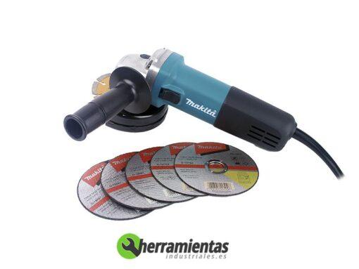 Amoladora Angular Makita 115MM 9557NBDX + Maletín metal