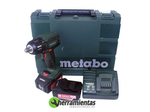 068HE60220565 – Atornillador percutor Metabo SSW 18 LTX 400 BL + Maletín plástico