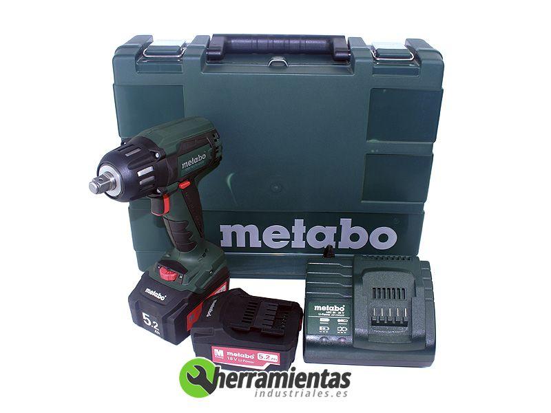 atornillador percutor metabo ssw 18 ltx 400 bl malet n. Black Bedroom Furniture Sets. Home Design Ideas