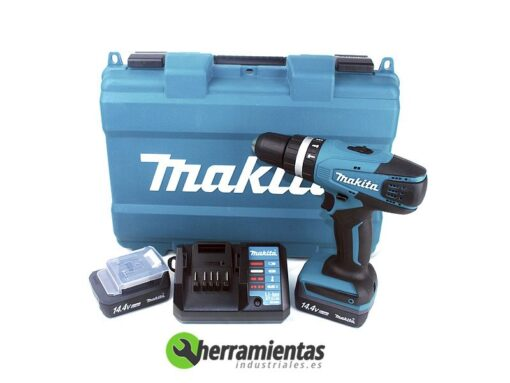 082HP347DWE – Taladro percutor Makita HP347DWE + Maletín plástico