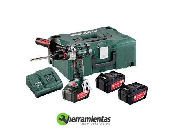 068HE60214890 – Taladro atornillador Metabo SB 18 LTX Impuls + 3 Baterías + Maletín plástico