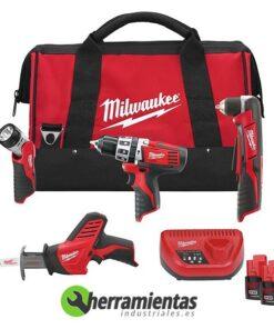 238HE4933413795 – Kit Milwaukee C12PP4F-42B Mochila + Linterna + Sierra de Sable + Atornillador angular