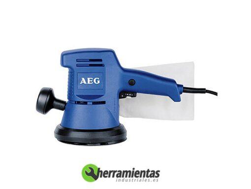 238HEEXE460 – Lijadora Roto-orbital AEG EXE 460-125 + Maletín plástico