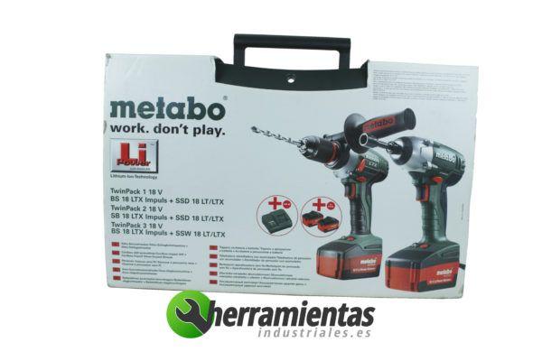 Twin Pack 2 Metabo SB 18 ltx + SSD 18 LT + Maletin