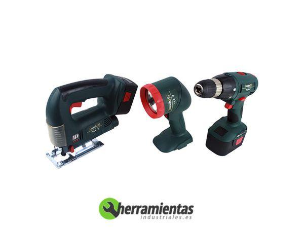 121HEVZD14KIT – Kit Taladro + Sierra caladora + Linterna Casals VZD 14 + Maletín plástico