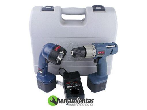 498HEBD1200FL – Taladro Ryobi BD 1200 FL + Linterna + Maletín plástico