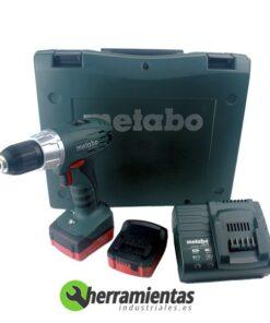 068HE60213551 – Taladro Metabo BS 14.4 Li + Cargador ASC 30 + 2 Baterías 1,3 Ah+ Maletín plástico