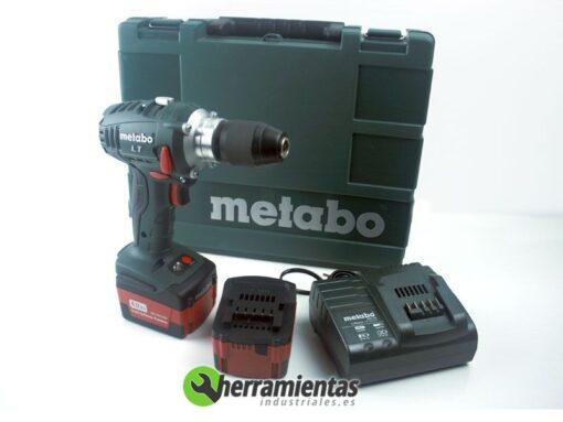 068HE60213761 – Taladro Metabo BS 14.4 LT IMPULS 4,0Ah + Maletín plástico + 2 Bat