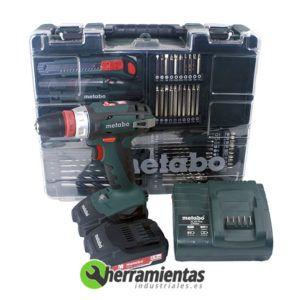 068HE60221788 – Set Metabo BS 18 Quick + 2 baterías 2,0 Ah + SC 60 Plus + Maletín plástico