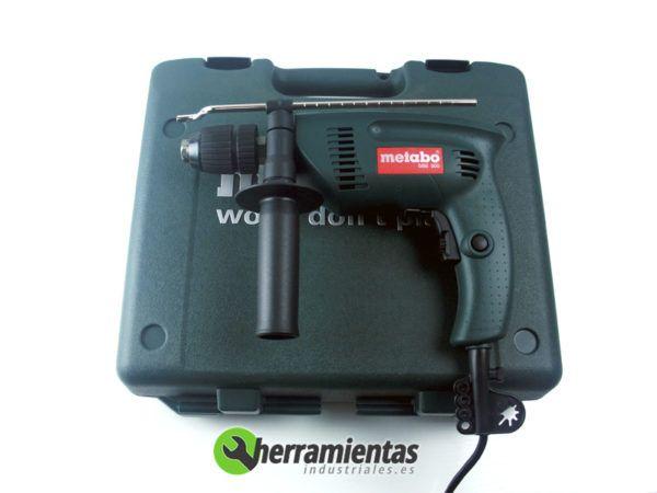 068HE60053350 – Taladro percutor Metabo SBE 500 + Maletín plástico