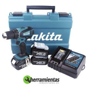 082DDF456RFE3 – Taladro Atornillador Makita DDF456RFE3 + 3 Baterías 18V 3,0Ah + Maletín plástico