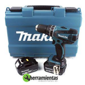 082DHP456RME – Taladro percutor Makita DHP456RME + Maletín plástico