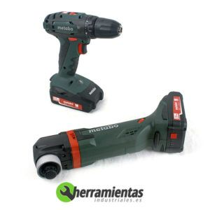 068HE68508100 – Kit Metabo 2.6.1 BS 18 + MT 18 LTX + Maletín plástico