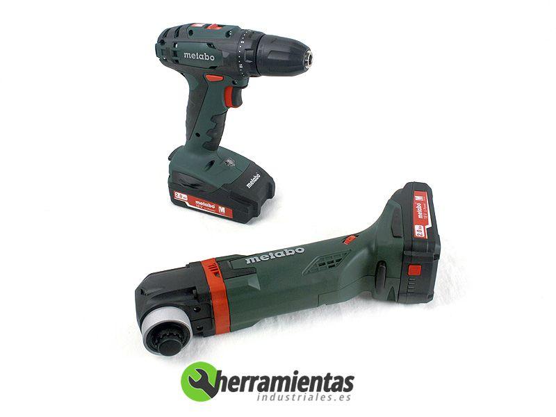 068HE68508100 – Kit Metabo 2.6.1 BS 18 + MT 18 LTX + Maletín plástico