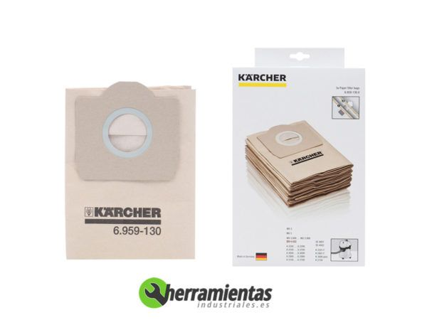 079RK6959130 – Bolsas Filtrantes Karcher 6.959-130 (Paquete 5 Ud)