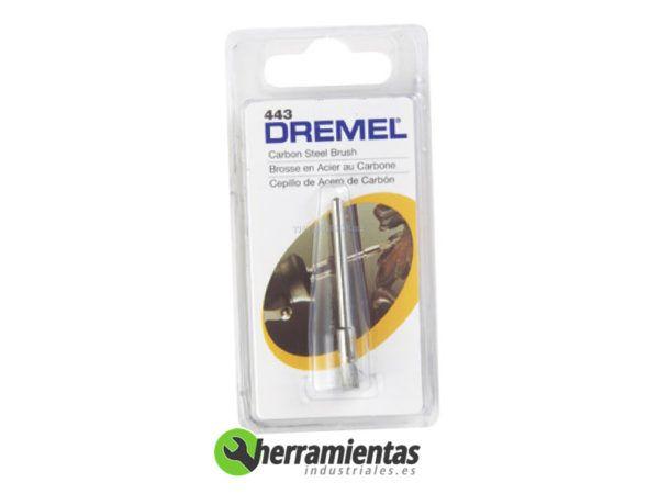 387582210158 – Cepillo de acero al carbono Dremel (443)