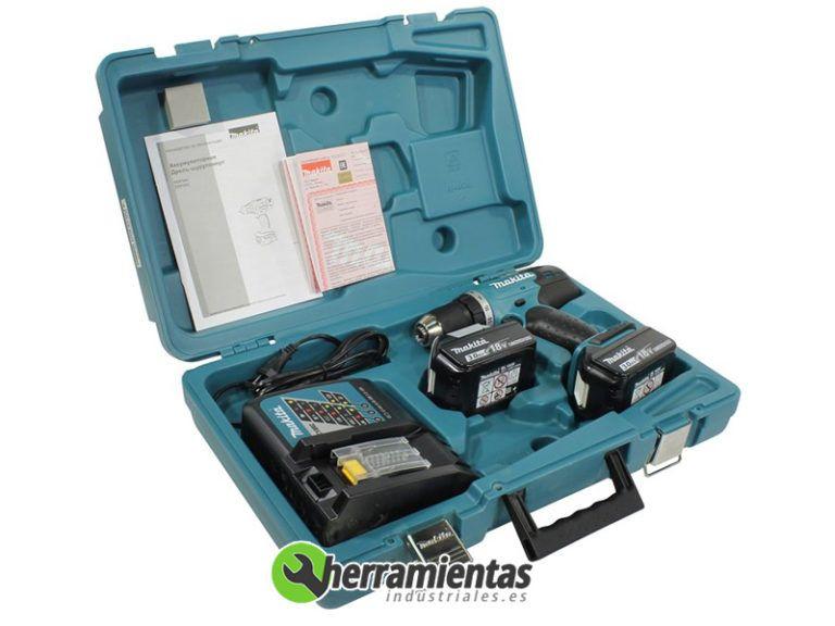 082DDF453RFE(2) – Taladro Atornillador Makita DDF453RFE + Maletín plástico