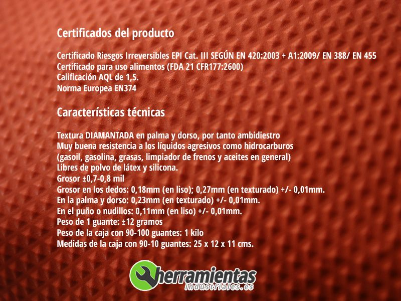 1051GL2003(5) – Guantes de nitrilo dimantados Auto Tecnik