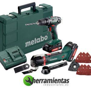 Pack Taladradora Atornilladora BS 18 + Multiherramienta MT 18 LTX+ Maletín plástico