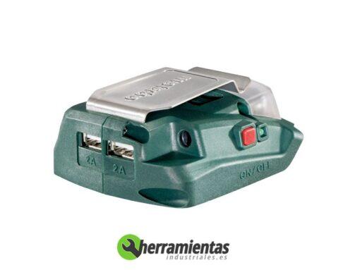 068RM00288(2) – Lintera + cargador Metabo PA 14.4-18 Led-USB