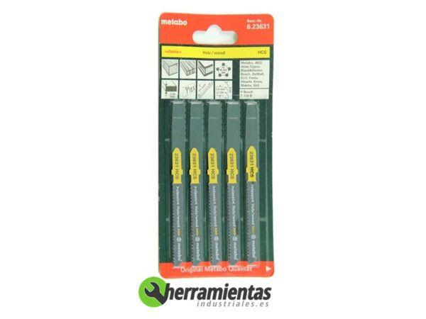068RM23631 – Hojas de sierra de calar Madera (5uds) Metabo 23631