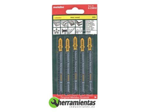 068RM23632 – Hojas de sierra de calar Madera (5uds) Metabo 23632
