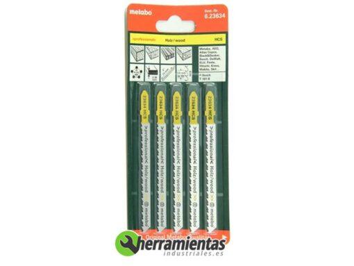 068RM23634 – Hojas de sierra de calar Madera (5uds) Metabo 23634