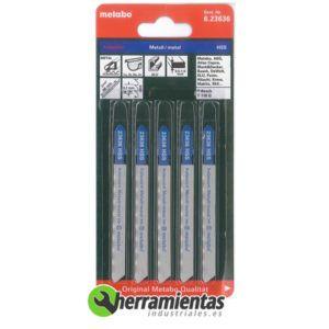 068RM23636 – Hojas de sierra de calar Metal (5uds) Metabo 23636