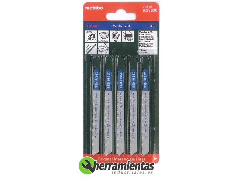 Hojas de sierra de calar metal 5uds metabo 23636 - Hojas de sierra ...