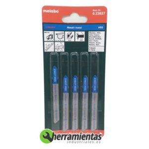 068RM23637 – Hojas de sierra de calar Aluminio (5uds) Metabo 23637