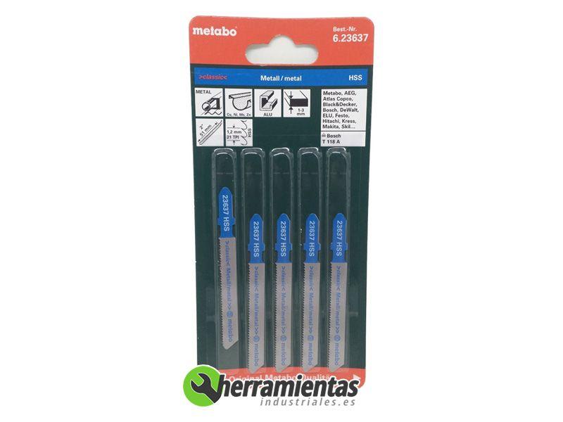 Hojas de sierra de calar aluminio 5uds metabo 23637 - Hojas de sierra ...