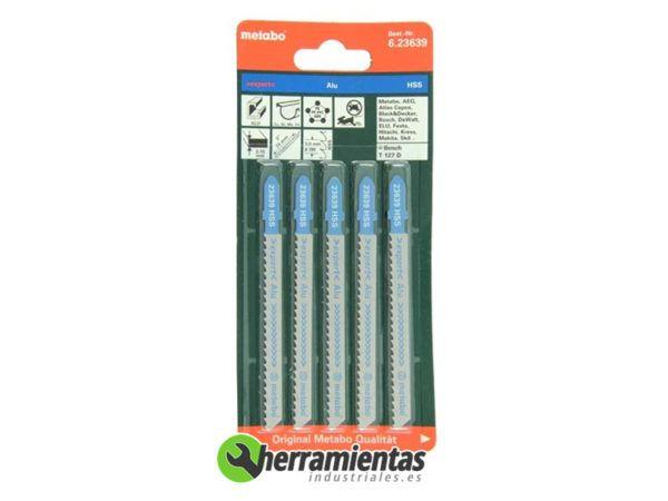 068RM23639 – Hojas de sierra de calar Aluminio (5uds) Metabo 23639