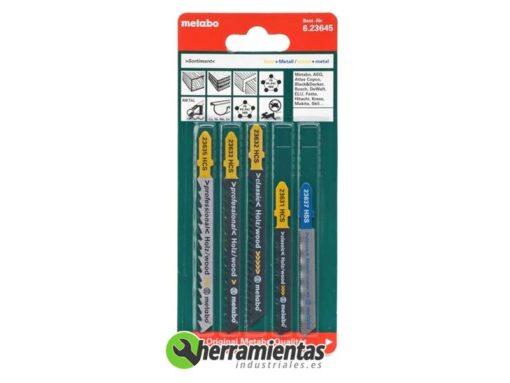 068RM23645 – Hojas de sierra de calar Madera y metal (5uds) Metabo 23645