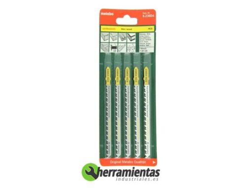068RM23654 – Hojas de sierra de calar Madera (5uds) Metabo 23654