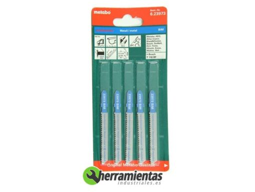 068RM23973 – Hojas de sierra de calar Bimetal (5uds) metabo 23973