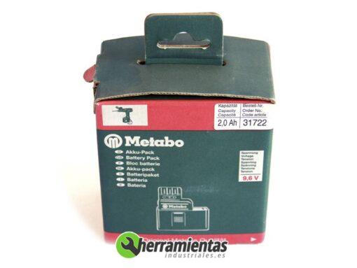 068RM31722(2) – Batería Metabo 9,6V 2,0Ah 31722
