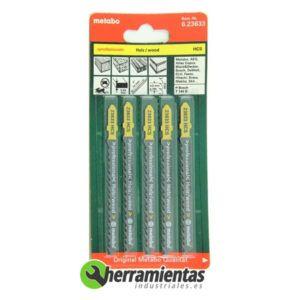 068RM23633 – Hojas de sierra de calar Madera (5uds) Metabo 23633