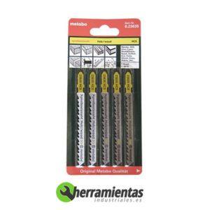 068RM23635 – Hojas de sierra de calar Madera (5uds) Metabo 23635