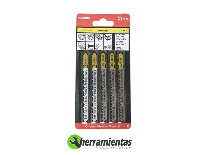 Hojas de sierra de calar madera 5uds metabo 23635 - Hojas de sierra para madera ...