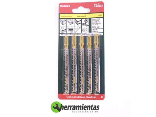 068RM23933 – Hojas de sierra de calar Madera (5uds) Metabo 23933