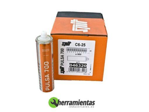 770HM046320 – Clavos Pulsa Spit C6-25 + Gas 046320