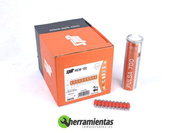 770HM011981 – Caja de clavos SPIT HC6-22 + Gas 011891