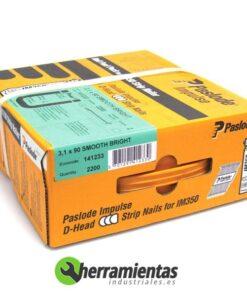 770HM141233 – Caja de clavos lisos Spit 3,1×90 + Gas 141233