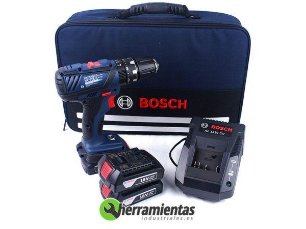 98406019E7101 – Taladro percutor Bosch GSB 18-2-Li Plus + Maletín