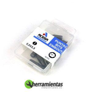 001H939000550 - Puntas Acesa de 1/4 rectas 0,8X5,5 00550