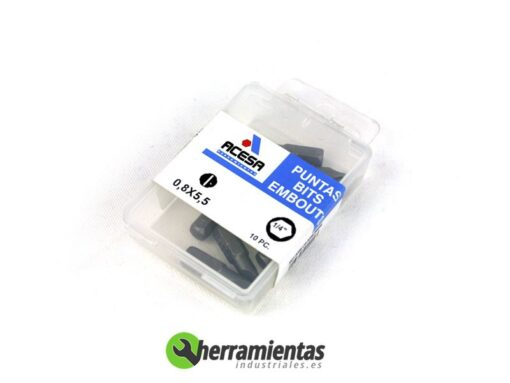 001H939000550 – Puntas Acesa de 1/4 rectas 0,8X5,5 00550