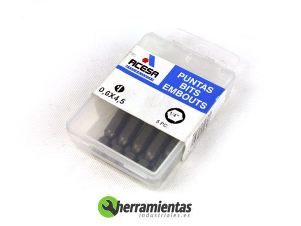 001H939700450 – Puntas Acesa de 1-4 rectas 0,6X4,5 00450