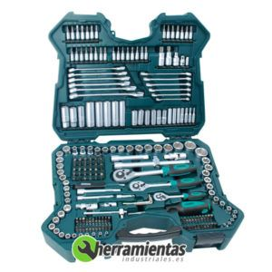 386M9840 - Juego de llaves de vaso Mannesmann 215 piezas